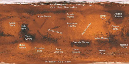 Marskarte - vergrößerbar (NASA)