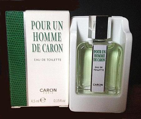 POUR UN HOMME DE CARON : EAU DE TOILETTE 4,5 ML - MINIATURE RECENTE