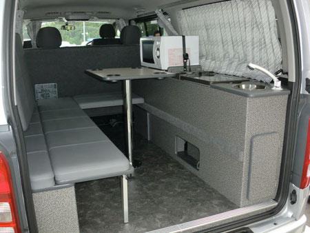 ハイエース キャンピング トランポ 車中泊 ベッドキット 内装