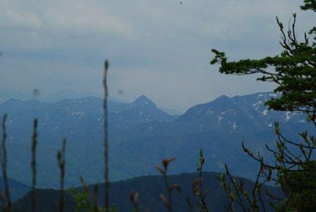 冠山・・・神々しさを感じません。雪が解けてしまったせいでしょうか? それとも空気が澄んでなくてもやっているせいでしょうか???