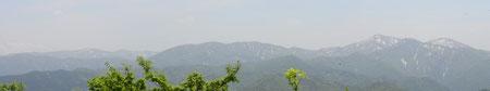 白山方面の展望