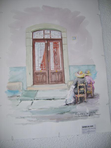 """"""" Mujeres cosiendo """" ( Acuarela )"""