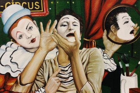 """""""Vor dem Spiegel"""", Ölgemälde von W. Vacano (c)"""