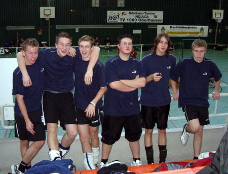 Das erfolgreiche Juniorenteam ( v.l.n.r.): Dominik Kirchner, Dominik Dören, Marc Bolich, Marco Hohaus, Dominic Staub und Kevin Nagel