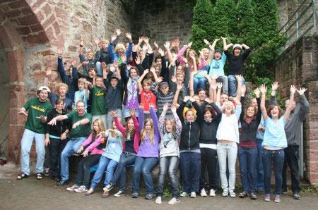 Die Freizeiten des NABU Murrhardt sind immer sehr beliebt - das Bild zeigt die Teilnehmer und Betreuuer von 2011