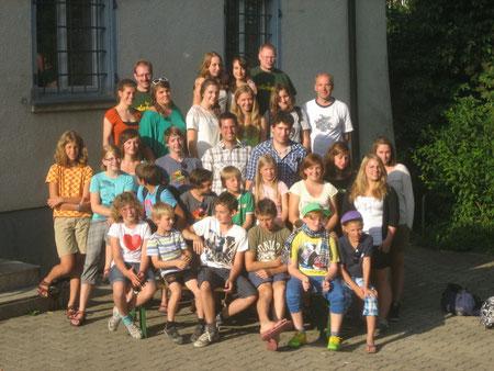 Kinder und Betreuer der Freizeit 2012