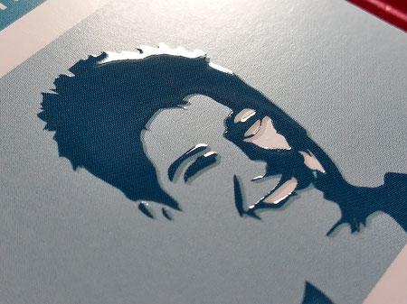 Image Design. Detail der Vorderseite mit Relieflack. Visitenkarte für Edna Wenning, Dipl. Psychologin. Von Funkenflug Design Münster.