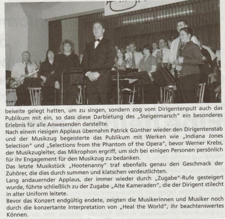 """Bericht aus dem """"Löschmeister"""" Dez. 2009"""
