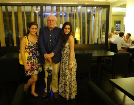 Con Pam e Carla Rubio al Tokyo Fish di Milano
