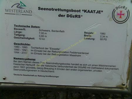 Der letzte Platz der KAATJE in Westerland/Sylt