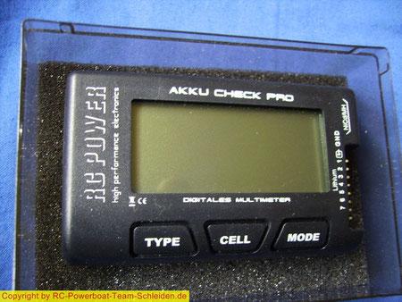 LiPo Accu-Check , damit lassen sich alle Zellen innerhalb von wenigen Sec. einzeln messen. u.v.m
