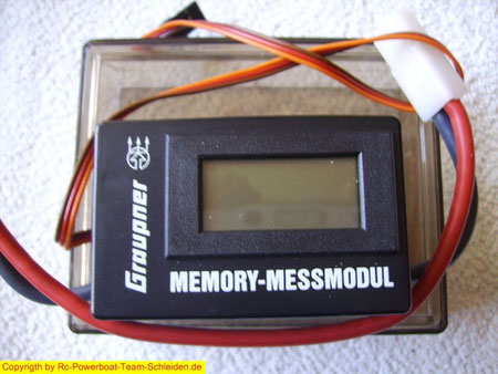 Das Memory Messmodul sammelt fleißig alle tech.Daten während der Fahrt