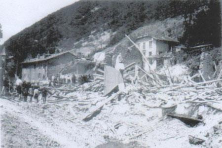 La Buisserate après le bombardement