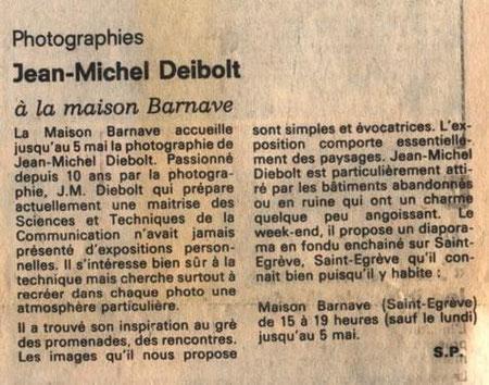 Dauphiné Libéré - 29 avril 1985