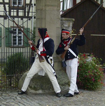 Stadtrallye in Freiburg , Gendarmen im Gerberviertel (optional)