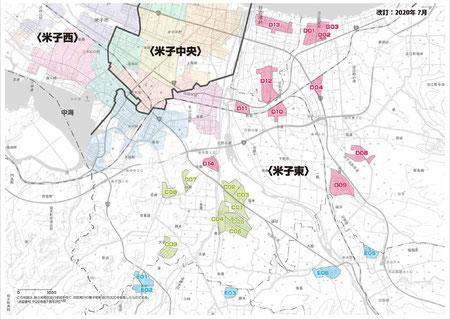 米子東 配布エリアマップ