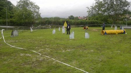Alice Glocknerova mesearing the course