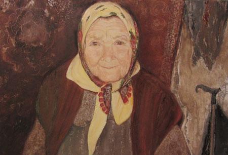 """""""Бабушка"""", масло, 40х60 см"""