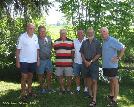 Auf dem Mannschaftsfoto von links: Gerhard Gollwitzer, Karl Bichler, Mannschaftsführer Gregor Schwarzmann, Lenz Albrecht, Gerhard Moschner, Franz Hottenroth