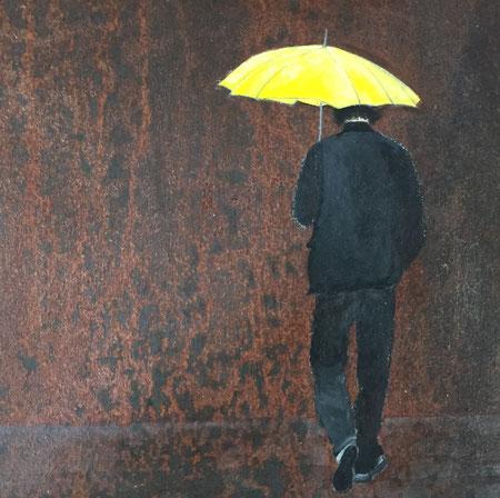 30x30 rainy days, acryl auf eiseplatte