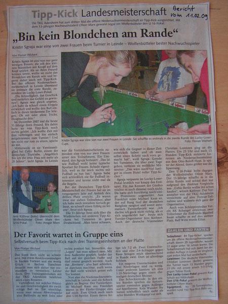 Niedersächsische Einzelmeisterschaft 07.02.2009