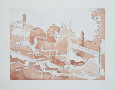 2012 Industrial Architecture, Aquatint and Line Etching, two plates