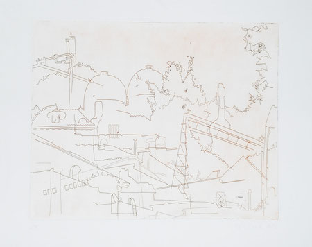 2012 Industrial Architecture, Line etching, one plate