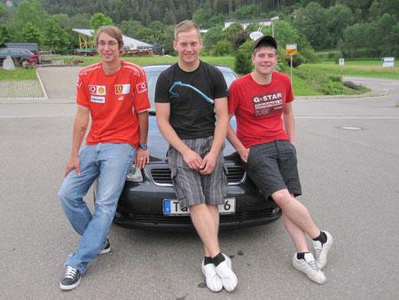 Fahrgemeinschaft BKFH: Marco Biselli, Marius Schanz, Johannes Alber
