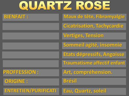 Quartz Rose - Lithothérapie - Boutique de minéraux - Casa bien-être
