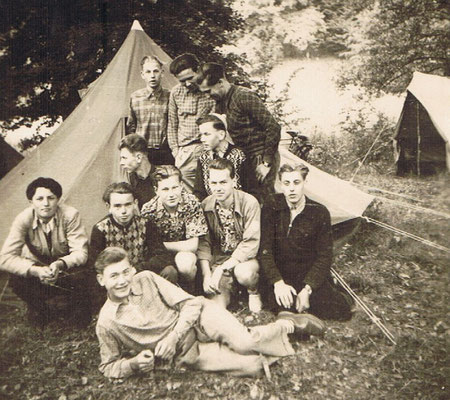 Ältestes Jugendgruppen Foto, DGB-Northeim-Jugendlager bei Bursfelde 1954