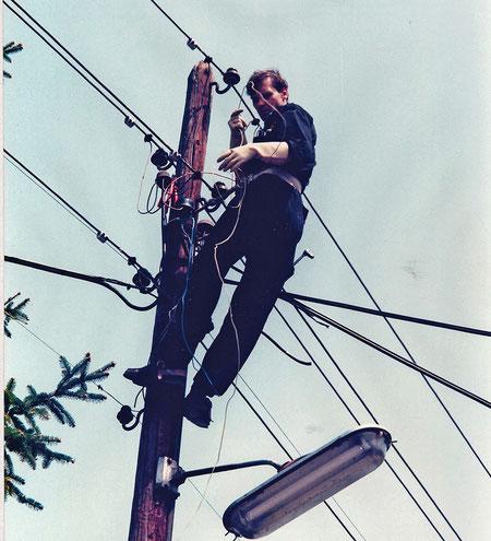 Kurt Tömördy bei der Arbeit (1985)