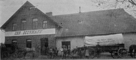Pferdefuhrwerk in Hartum um 1910