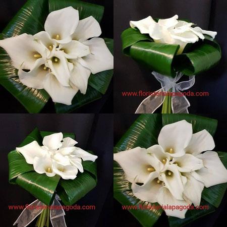 Ramo de novia de calas mini blancas ref RNC171217