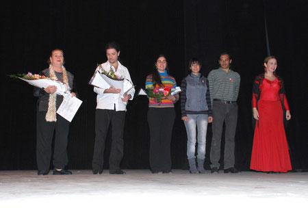 NESTOR SPADA, NANCY BOCCA y representantes Soc. española de Rcia en  Expodanzachacociad 2009