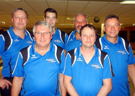 von  links  hinten :  Frank  Ludwig  ,  Dennis  Ludwig  , Ralf Holzapfe, René Ludwig von links  vorne :  Lothar Weber, Wolfgang Späth