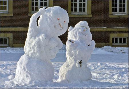 Wenn der Schneemann mit seiner Schneefrau....