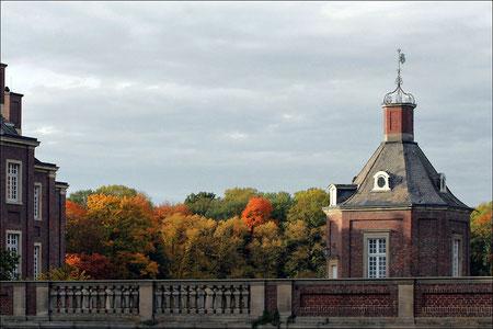 Das Hochzeitstürmchen von Schloss Nordkirchen, mal aus einer anderen Perspektive.