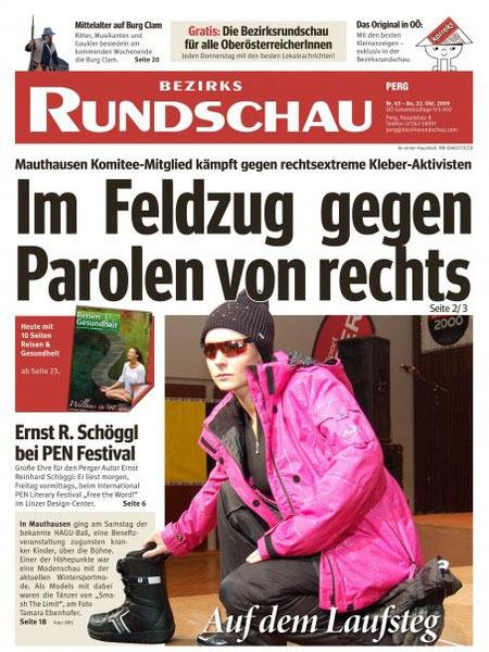 Bezirksrundschau 22. Oktober 2009 - Modeschau Trauner