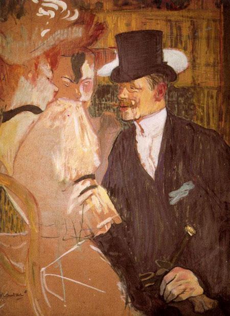Henri de Toulouse Lautrec - The Englishman at the Mouling Rouge