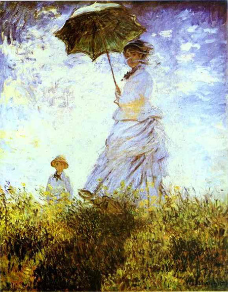 Claude Monet - The Walk. Lady with a Parasol, 1875. Oil on canvas