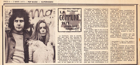 POP MUSIC - Super Hebdo ( 2 mars 1972)