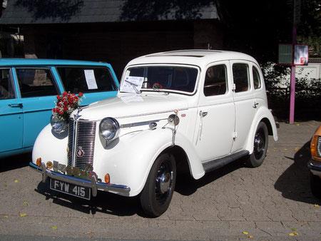 Diesen Austin 10 von 1939 fuhr einst Seine Lordschaft von Stoke-on-Trent, England