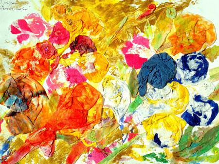 """""""Paradiesgarten"""", Irina Koljonen. Michtechnik/ Collage,"""