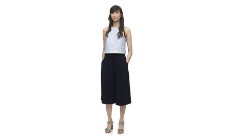 Whistles Navy Wideleg Culottes