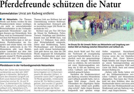 Aktivitäten von Verbandsmitgliedern (Quelle Oeffentlicher Anzeiger(Nahe-Zeitung)