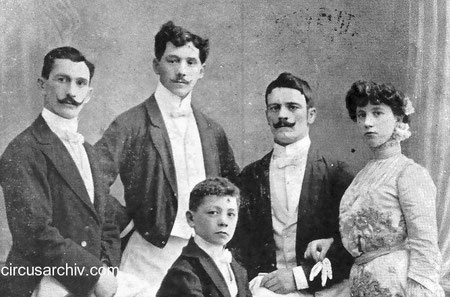 1906 - Sigmund, Rudolf, Karl, Anita & Vincenz Rebernigg