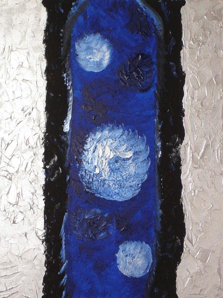 """""""moonlight"""", Acrylic on canvas, 80 x 60 cm, price and availibility on request, """"Mondlicht""""         Acryl auf Leinwand         80 x 60 cm         Preis und Verfügbarkeit auf Anfrage"""