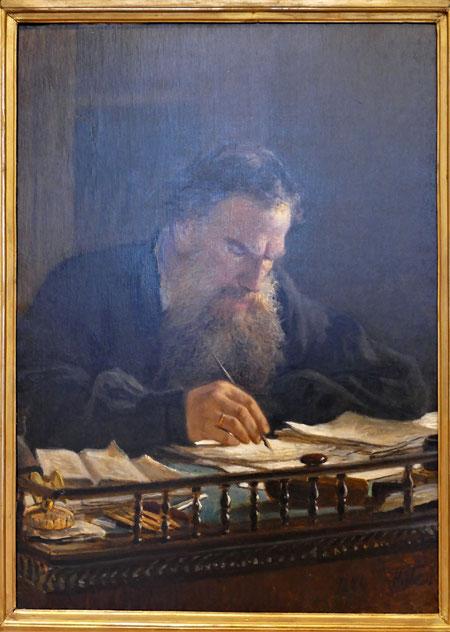 Nicolai Ge (1831-1894) : portrait de Léon Tolstoï