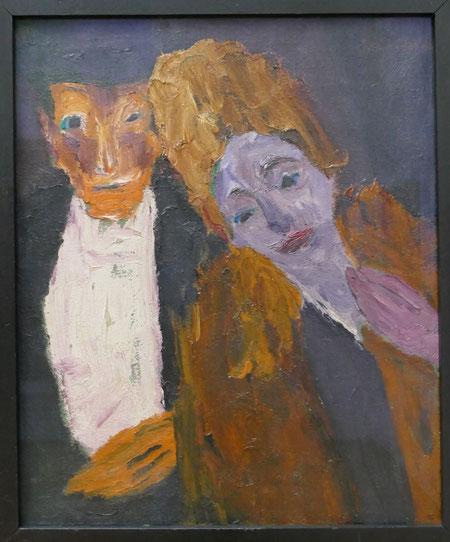 Emil Nolde : homme et femme (femme à la pelisse), 1918