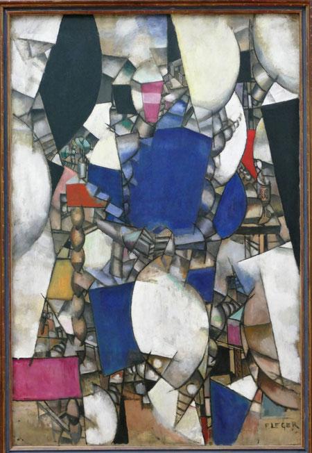 Fernand Léger : la femme en bleu, 1912